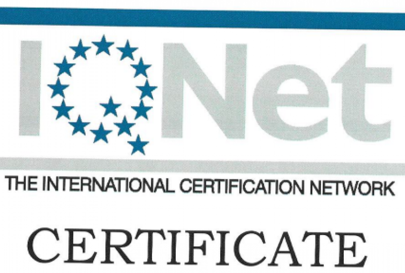 IQNET | The International certification network | certificate